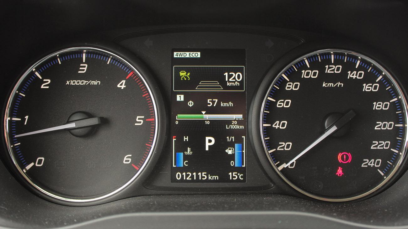 Adaptive Cruise Control: Kein Fahrzeug voraus erkannt, mittlerer Abstand, max. 120 km/h