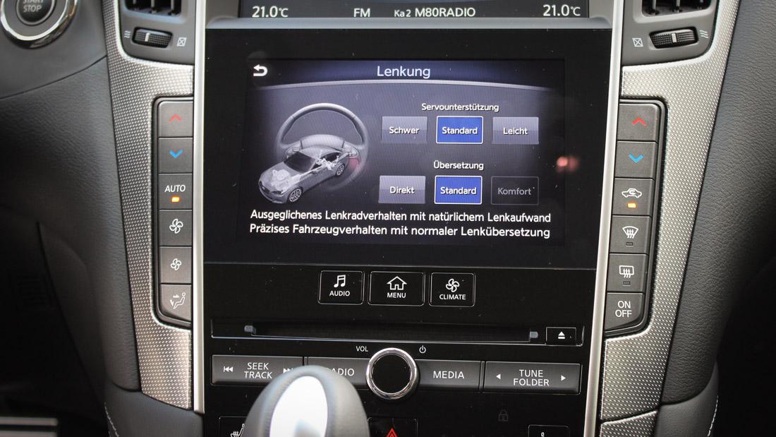 infiniti q50 direct adaptive steering setup touchscreen