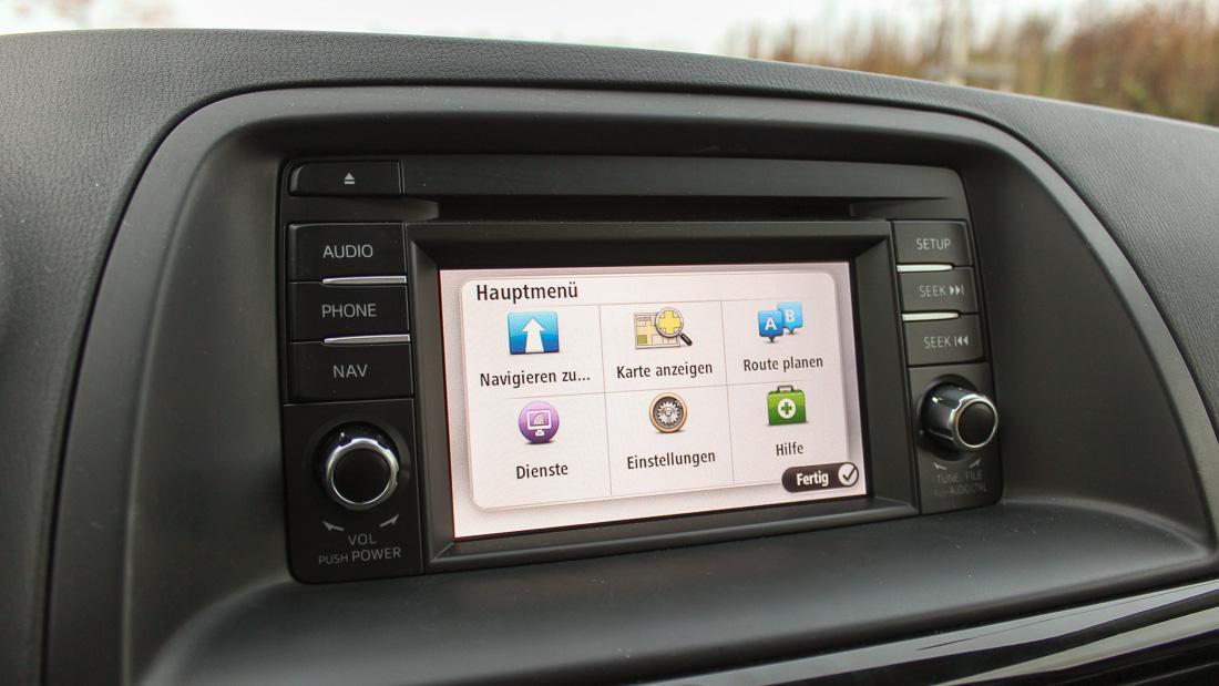 mazda cx5 touchscreen infotainment tomtom