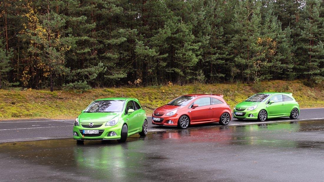 opel corsa opc nürburgring edition rot grün
