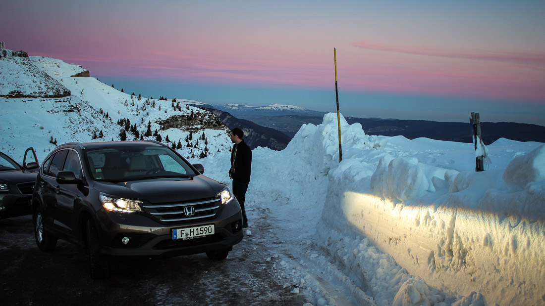 honda cr-v schnee alpen