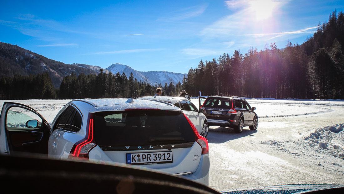 volvo wintertestfahrten schnee