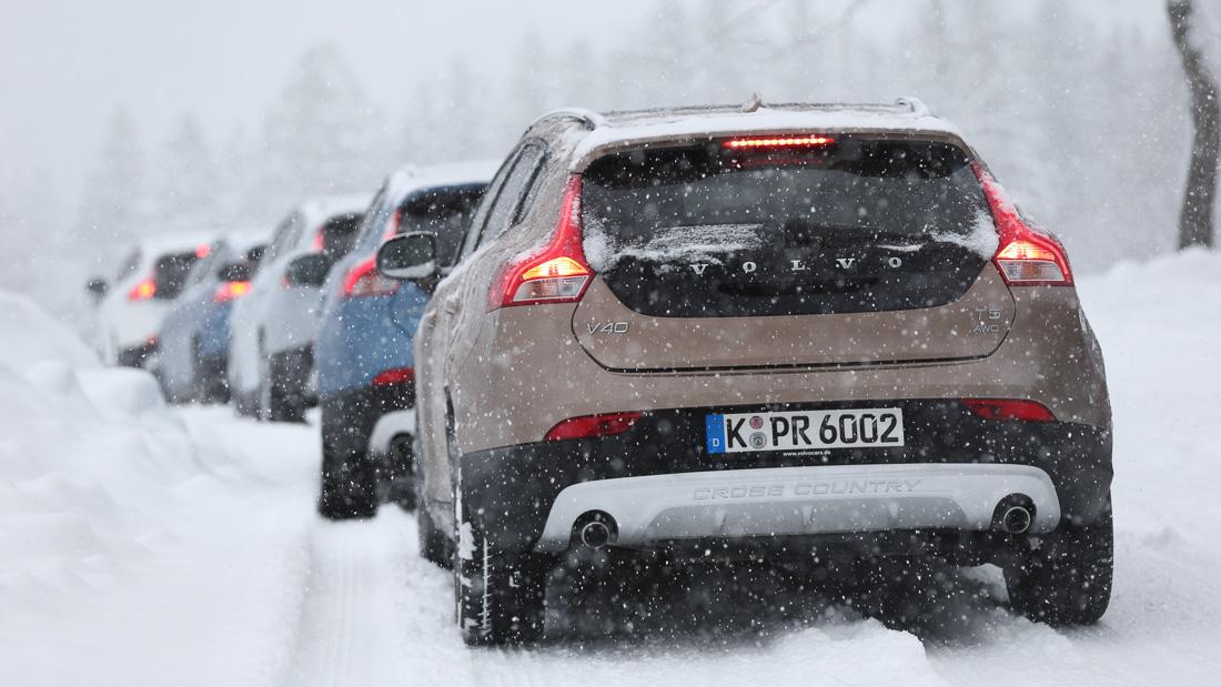 volvo wintertestfahrten 2015 v40 cross country