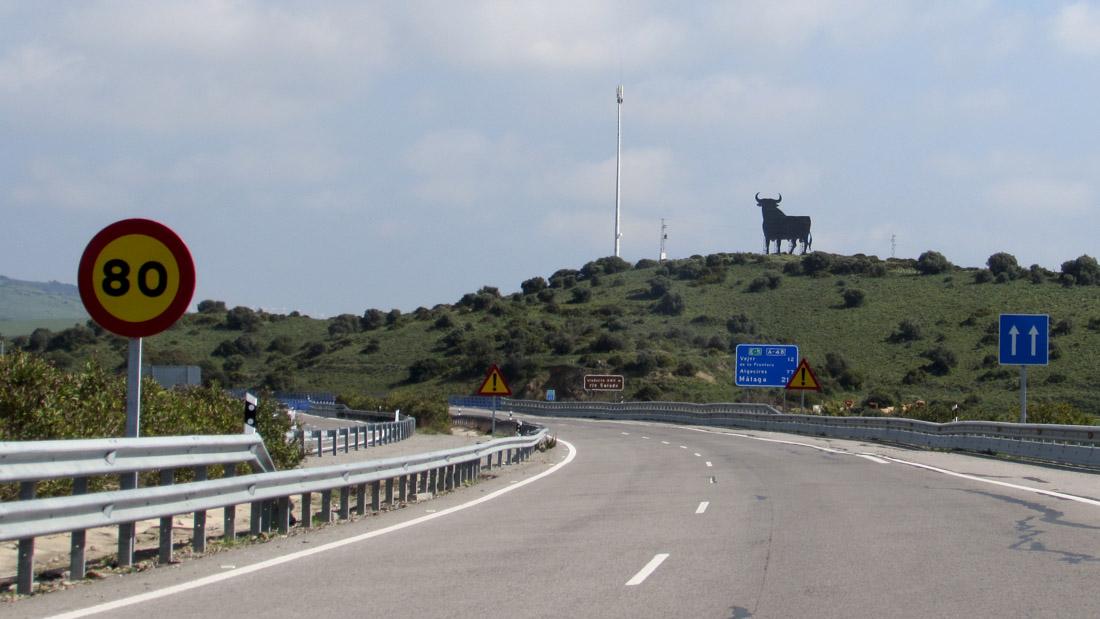 Die Osborne-Stiere finden sich vor allem entlang der Autobahnen Andalusiens