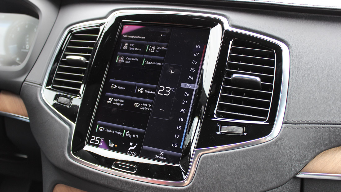 volvo xc90 touchscreen infotainment