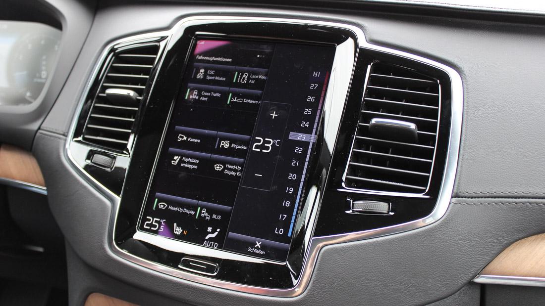 volvo xc90 touchscreen infotainment