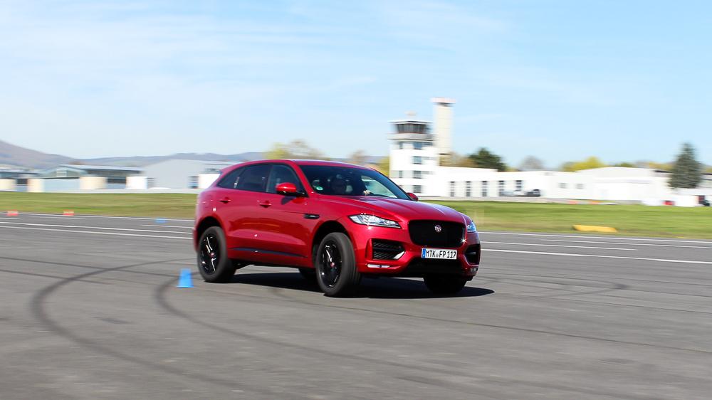 jaguar f-pace racetrack italian racing red