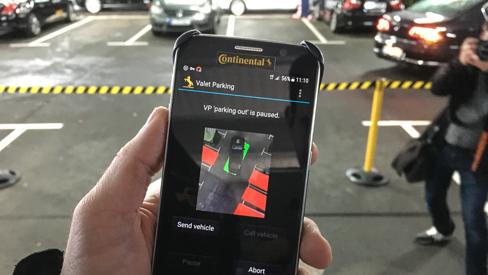 continental valet parking app