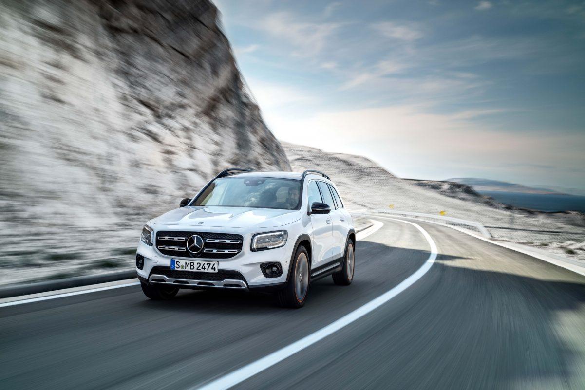 Darstellung des neuen Mercedes-Benz GLB