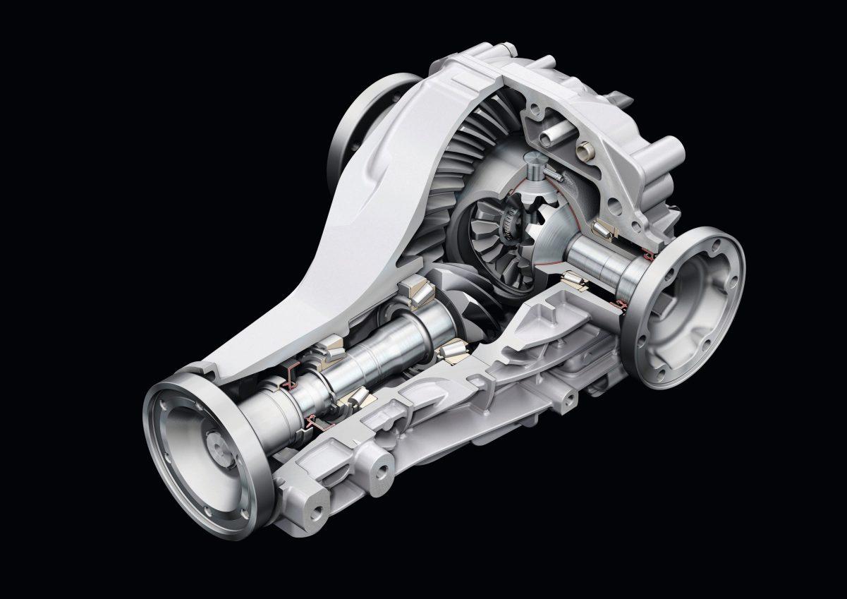 Schematische Darstellung des Hinterachsdifferentials eines Audi A8