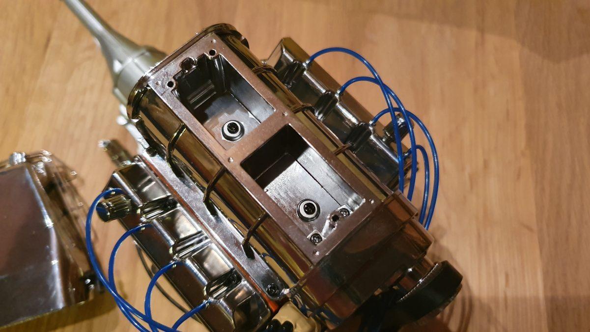 Leeres Kompressorgehäuse des Dodge Charger R/T